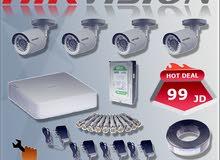 حرق الأسعار نظام 4 كاميرات Hikvisionبسعر الجملة 99 دينار
