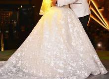 فستان فرح لبسه واحده فقط جميل بسعر كويس للبيع او الايجار