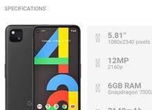 WANTED a brand mobile from Google Pixel 4a, مطلوب جوال من قوقل بكسل الجديد