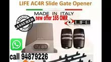 automatic sliding Gate motor 400 kg brand life Made in Italy