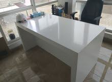 Heavy 80x140 white desk table for sale