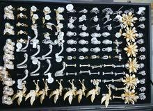 مجموعه متنوعه من المحابس والحلقات والاطراف ذهب برازيلي 300 قطعه