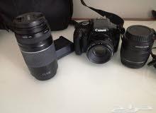 كاميرا كانون من امفن مع عدستين اضافيه