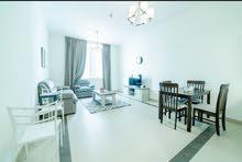 دبي سبورت سيتي غرفة وصالة مفروشة مع بلكونة - ايجار شهري شامل