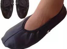 Leather Socks Half Mozay For Men And Women - Black جوارب من الجلد نصف موزاي للرج
