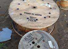 دوائر خشب معالجه ممتازه وقويه تصلح أن تجعلها طاوله وكراسي