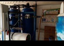معمل لفلترة الماء مستعمل بحالة جيدة(ماطورات إيطاليا,  وفلاتر تركيا ) جاهز للعمل.