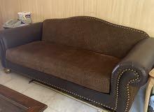 طقم كنب 3 قطع  جلد leather 3 piece sofa set