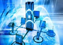 تمديد شبكات انترنت وسيرفرات  و صيانه الشبكات و اجهزه الكمبيوتر