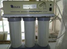 فلتر لتصغيه وتعقيم الماء ب 3 مراحل اصطوانات بخاصية تعقيم باشعة فوق البنفسجيه uv