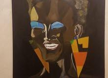 لوحة فنية cavas painting بارتفاع100cmوعرض70cm