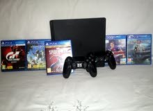 PS4 Slim 500gb 2 controllers 5 games / بلايستيشن 4 سليم 500 جيجا معاه دراعين و 5