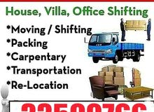 Movers Packers  / Carpenter / Furniture Fixing / Transportation