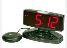 WAKE & SHAKE VIBRATING ALARM CLOCK with Jumbo Display ساعة منبه مع هزاز وشاشة..