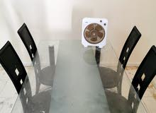 glass removable table with chairs