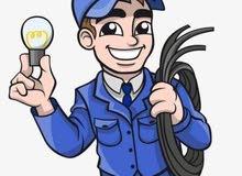 جميع الأعمال الكهربائية المنزلية  تمديدات     تركيب        صيانة اعطال