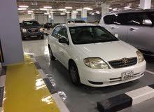للبيع تويوتا كرولا 2002 ماكينة 1.8 سي سي نظيفة جدا وشرط الفحص ماشية 202 الف بسعر 650 د.ك ت 97856393