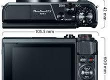 السلام عليكم مطلوب كاميرا كانون g7x مستعمل او جديد الي عندة لا يقصر