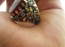 خاتم شغل يدوي للبيع عيار الفضه 925 السعر 15 الف