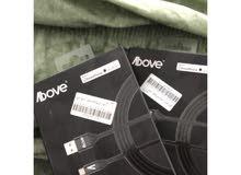 بيع أسلاك شواحن من شركة above معتمدة من ابل للشراء تواصل واتساب فقط0549688110