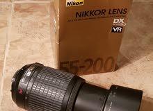 عدسة كاميرا نيكون 55_200