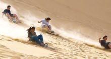 تأجير خيم و Sleeping bag وزلاجات  للتزلج على الرمال