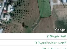ارض للبيع مادبا مليح خلف مسجد الرحمة مساحة 1838