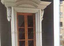 تصنيع قوالب فايبر جلاس للحجر الصناعى وتصميم موديلات جديده للدرايش والأبواب