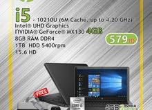 hp laptop core i5 الجيل العاشر كرت شاشة 4 جيجا بأفضل الاسعار لمختلف التخصصات الجامعية