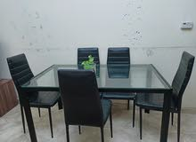 Dining table ,3 door cuboard,dining table with 6 chair ,dressing table
