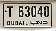 Dubai Car Number Plate T 63040