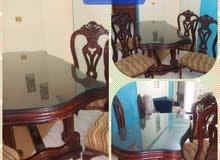 غرفة سفرة زان وعدد 4 كرسي