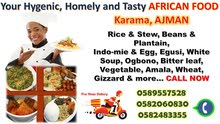Hygienic, Tasty African Home Cooked Food
