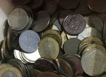 عملات معدنية مختلفة للبيع