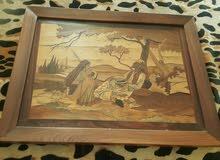بيع برواز خشبي محفور عليه صوره فنيه