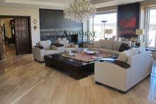 شقة ارضية طابقية دوبلكس للبيع في اجمل مناطق عبدون مساحة البناء 360 م مساحة الترس 40 م