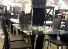 طاولة زجاج 6كراسي