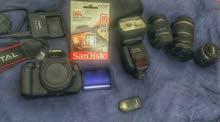 canon 600d +3 lenses+speedlite