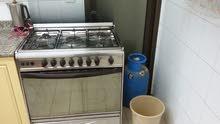 للبيع طباخ غاز 5 مشاعل مع جرة غاز