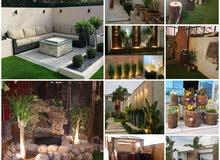 تنسيق حدائق تنسيق احواش  وتنسيق اسطح منازل وزرعاتها 0544166614