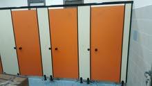 توريد وتركيب ابواب وقواطع الحمامات من مادة الفينوليك HPL المقاوم للماء والرطوبة