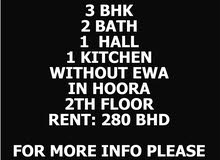 Flat For rent 3 BHK