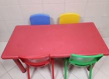 طاولة و4 كراسي للأطفال