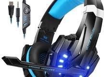 سماعات PS4 راس للألعاب بلاستيشن و الكومبيوتر