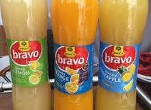 عصير برافو 1.5 لتر برتقال . 2حاويات.