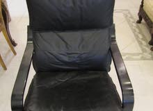 Leather Armchair, Black for KD 30