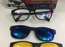 نظارات مغناطيس ماجيك فيجن 3 في 1 للقياده ليلا و نهارا