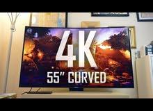 """تلفزيون Samsung 55"""" 4k curved"""
