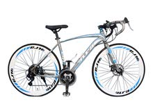 bicycle sports road challenger 26 inches blue color brand new still in the cartoon