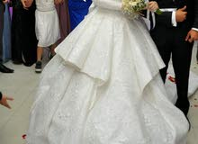 فستان زفاف ملبوس مره وآحده
